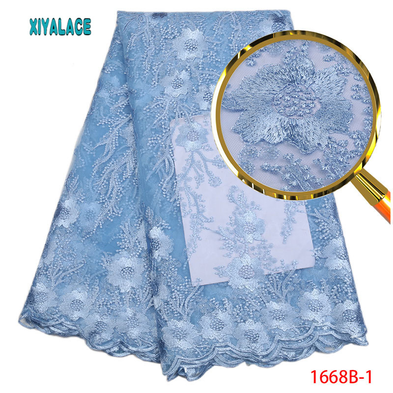French Tulle Lace Fabric Lace 2018 African Weddign Lace Fabric High Quality Afrian Nigerian Tulle Lace