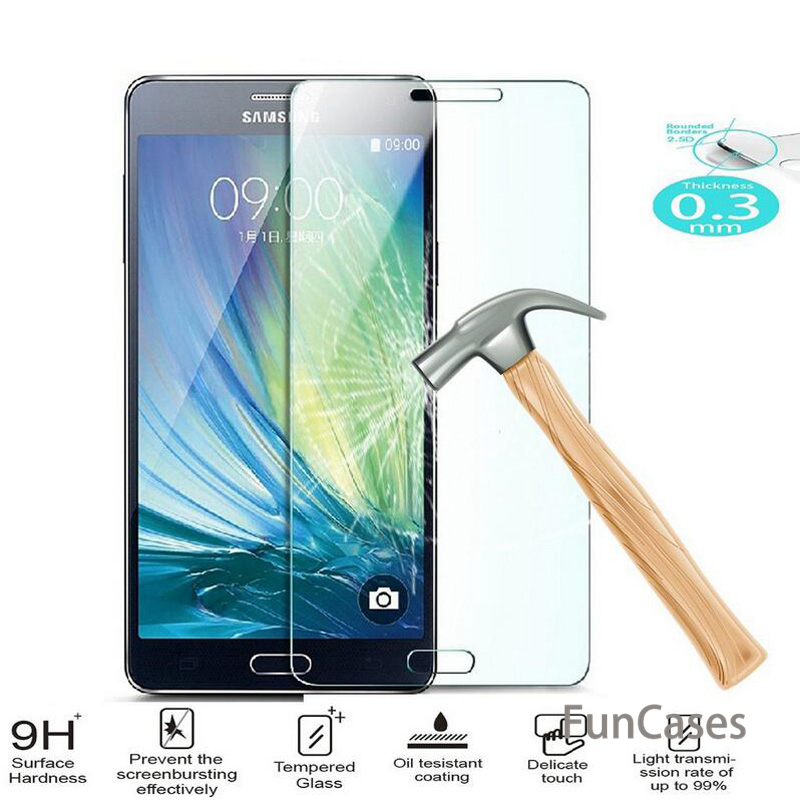 9H Tempered Glass For Samsung Galaxy J5 J7 <font><b>J1</b></font> mini J3 A3 A5 A7 <font><b>2016</b></font> 2014 S3 S5 mini S6 S4 Note 3 4 5 Screen Protector Cover Film image