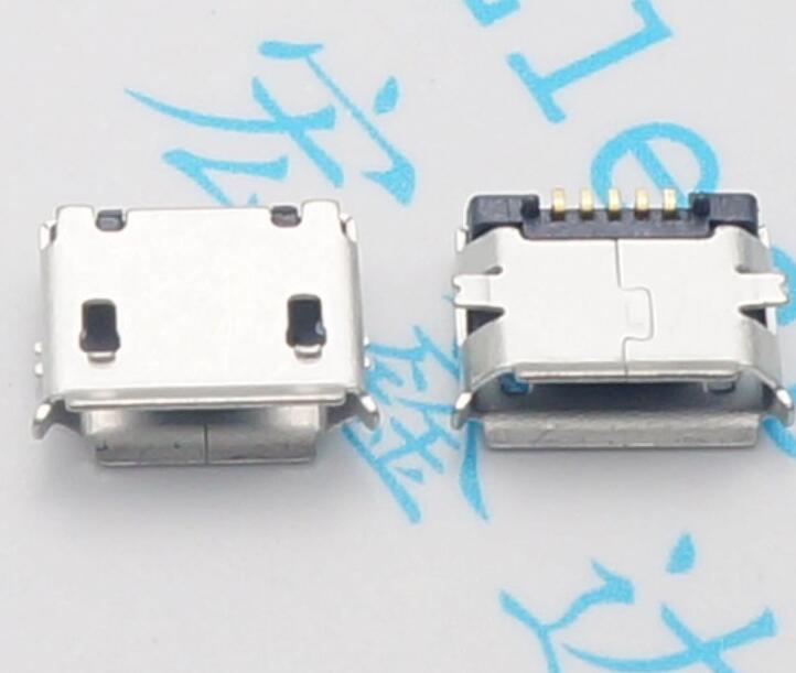 10pcs Micro USB Female Socket 5pin SMD Short Needle Copper