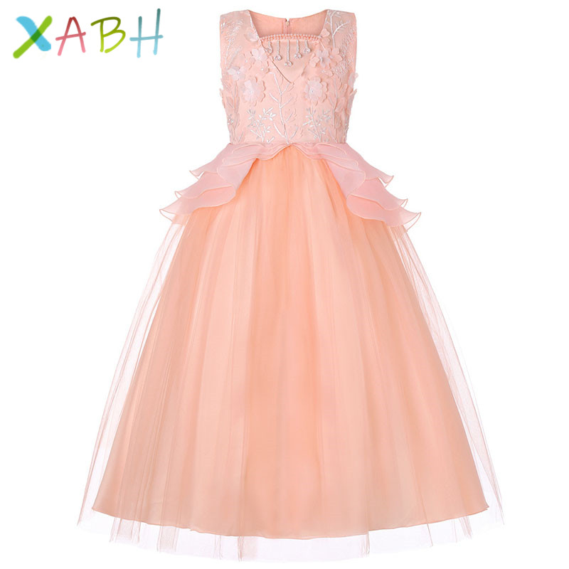 c9b6f0b1f1 XABH Kids Tutu Birthday Princess Party Dress for Girls Infant Lace Children  Bridesmaid Elegant Dress for Girl baby Girls Clothes