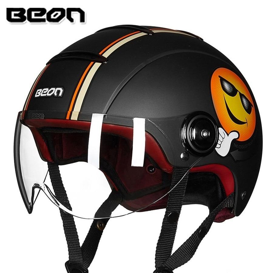 Free shipping 1pcs BEON Half Helmet Motorcycle Popular Harley Style Motorbike Vintage Helmets ABS DOT Approved Motorcycle Helmet