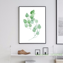 Фотография Print On Canvas Landscape Leaves and Flowers Paintings by Numbers Modular Panels Home Decoration Picture