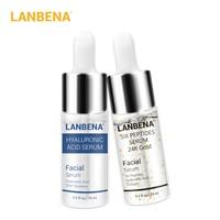 LANBENA Six Peptides Serum 24K Gold+Hyaluronic Acid Serum Anti-Wrinkle Lift Firming Treatment Fine Lines Whitening Moisturizing Face Care Serum