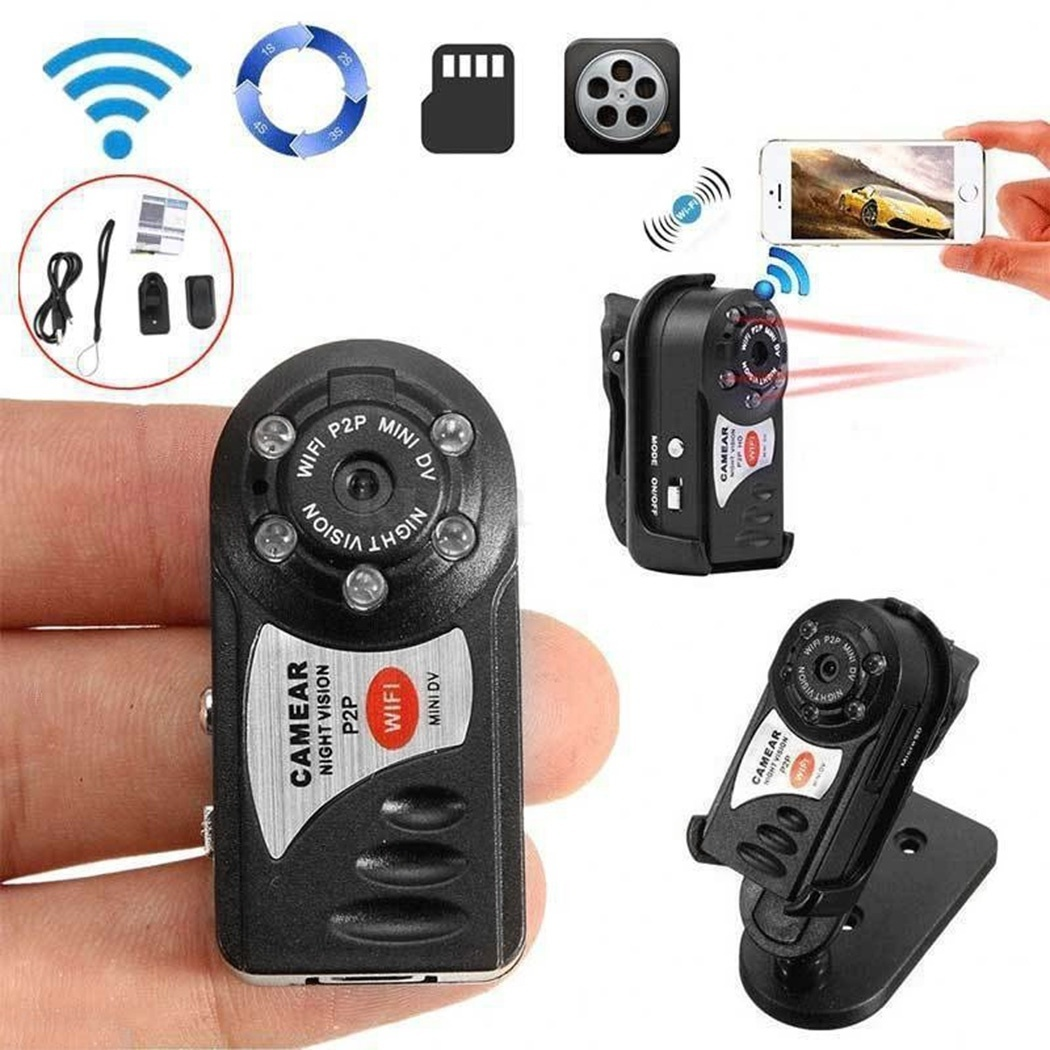 32G Card+Q7 Wireless Securiy Video Camera with Infrared Night Vision Wireless DVR Cam Body Cam32G Card+Q7 Wireless Securiy Video Camera with Infrared Night Vision Wireless DVR Cam Body Cam