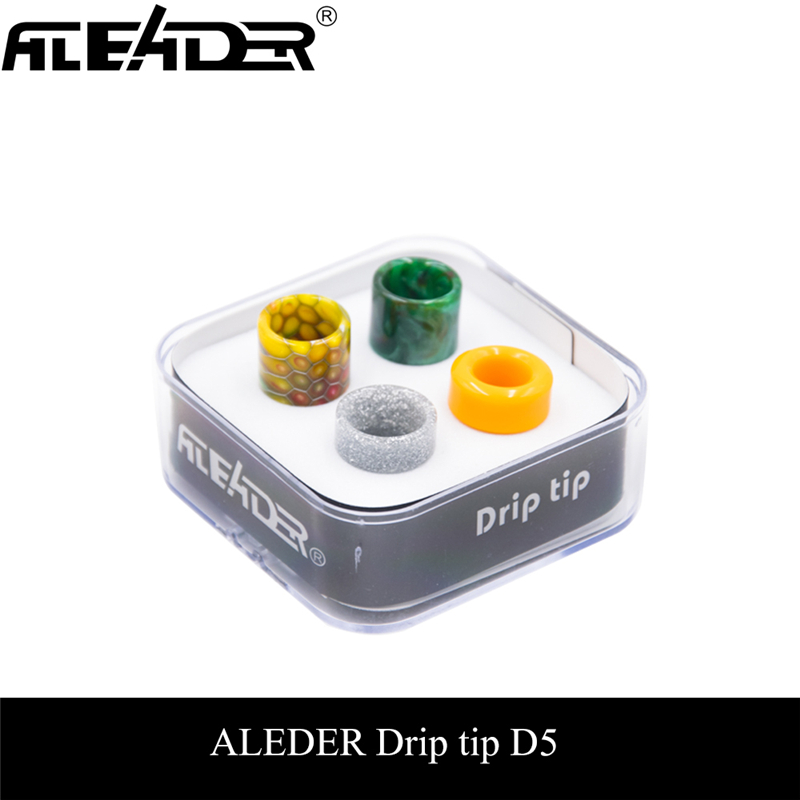 Aleader 4 Drip Tip Kit 510 810 Cobra Ultem Resin E Cigarette Mouthpiece With Acrylic Box For TF8 Baby TF12 Prince Tank