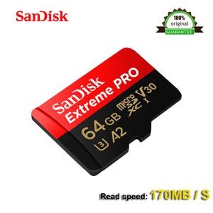Image 3 - SanDisk Extreme PRo microSDXC UHS I 64 GB Scheda di Memoria micro SD Card Carta di TF 170 Mb/S A2 64 gb Class10 U3 con Adattatore SD originale di 100%