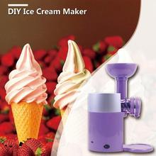 Летняя автоматическая машина для приготовления мороженого из замороженных фруктов, десертов, молочных коктейлей, машина для приготовления мороженого с европейской вилкой
