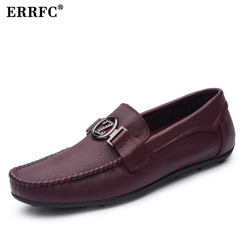 ERRFC الاتجاه من الرجال الانزلاق على متعطل الأزياء والأحذية مصمم جولة تو شقة الأحذية ل رجل أسود الخف أحذية حجم 37 44 Chaussure-في أحذية رجالية غير رسمية من أحذية على  مجموعة 1