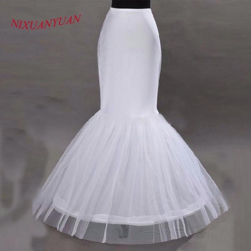 NIXUANYUAN 2017 Wholesale Mermaid Petticoat 1 Hoop Bone Elastic Wedding Dress Crinoline 2017 Bridal Petticoat Cheap