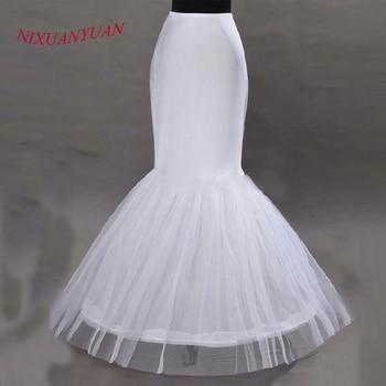 Nixuanyuan 2017 wholesale mermaid petticoat 1 hoop bone elastic wedding dress crinoline 2017 bridal petticoat cheap.jpg 350x350