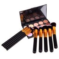 T2N2 Fashion 10 PCS Makeup Brush 15 Colors Concealer Sponge Puff