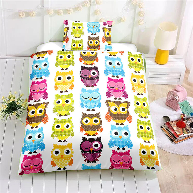 Girls Bed and Bedding Set Cartoon Pecker Bed Bedclothes Set Childrens Bedding Comforter Duvet Cover Set US Twin for Teens Bed ...