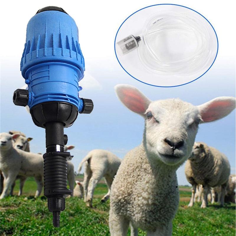 Bomba de Água Alimentado Por Bomba de Dosagem Química Da Mistura de fertilizantes Injector Líquido Dispensador de Dosagem mixer gado Fertilizantes Novo