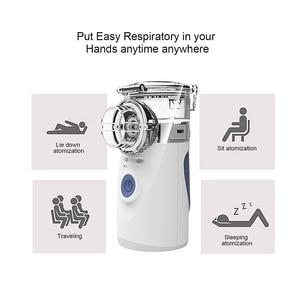 Image 2 - Mini Handheld Draagbare Mesh Vernevelaar Stille Ultrasone Medische Stomen Inhalator Volwassen Kids Oplaadbare Luchtbevochtiger Kind Volwassen