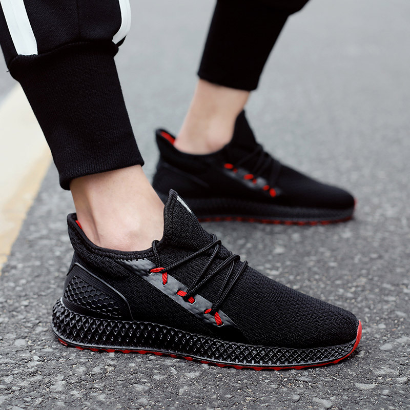 gray Red Sneakers De Mode Nouveau Casual Confortable Populaires Respirant Cool black White Homme And 2019 Black Offre Hommes Spéciale Chaussures 7TgRqHHx