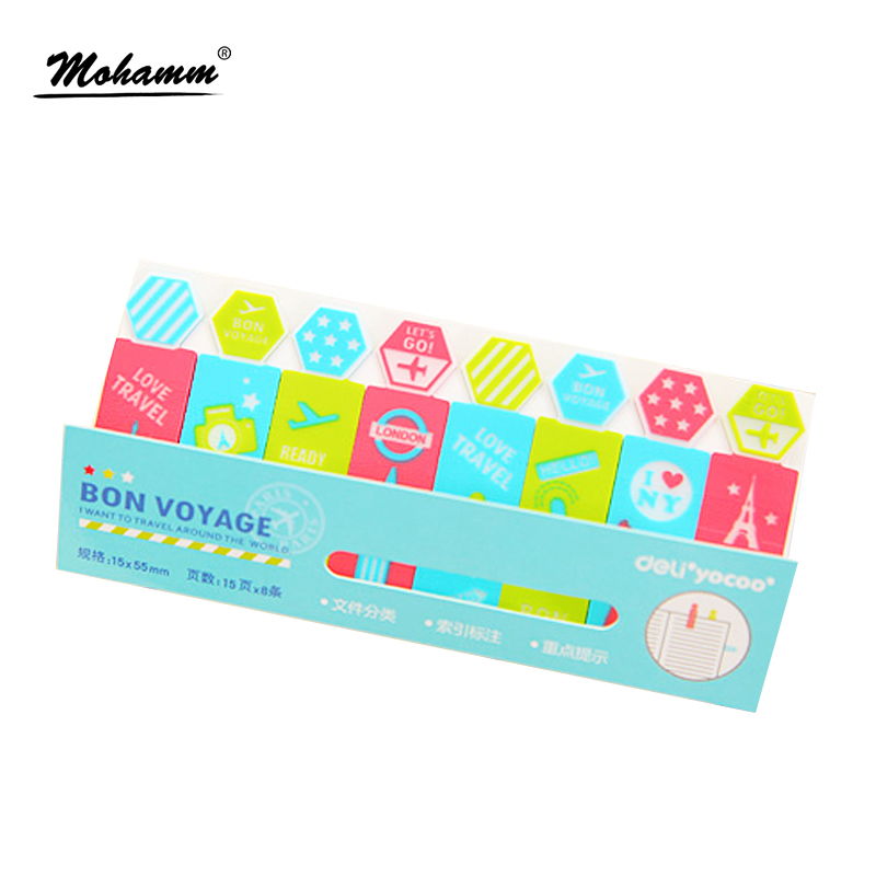 Deli 15 mm X 55 mm Tape Post-It Flags Transparent Sticky Adhesive Index Tab Highlighter Page Marker School Memo Papers Pad
