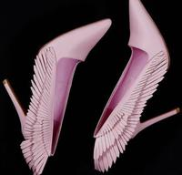 Mùa xuân Hot Phụ Nữ Chân Nhọn Trượt On Bơm Ngọt Ngào Wing Fringe Side Ladies Sexy Cao Gót Thời Trang Mới Giày Ăn Mặc Giày Bên