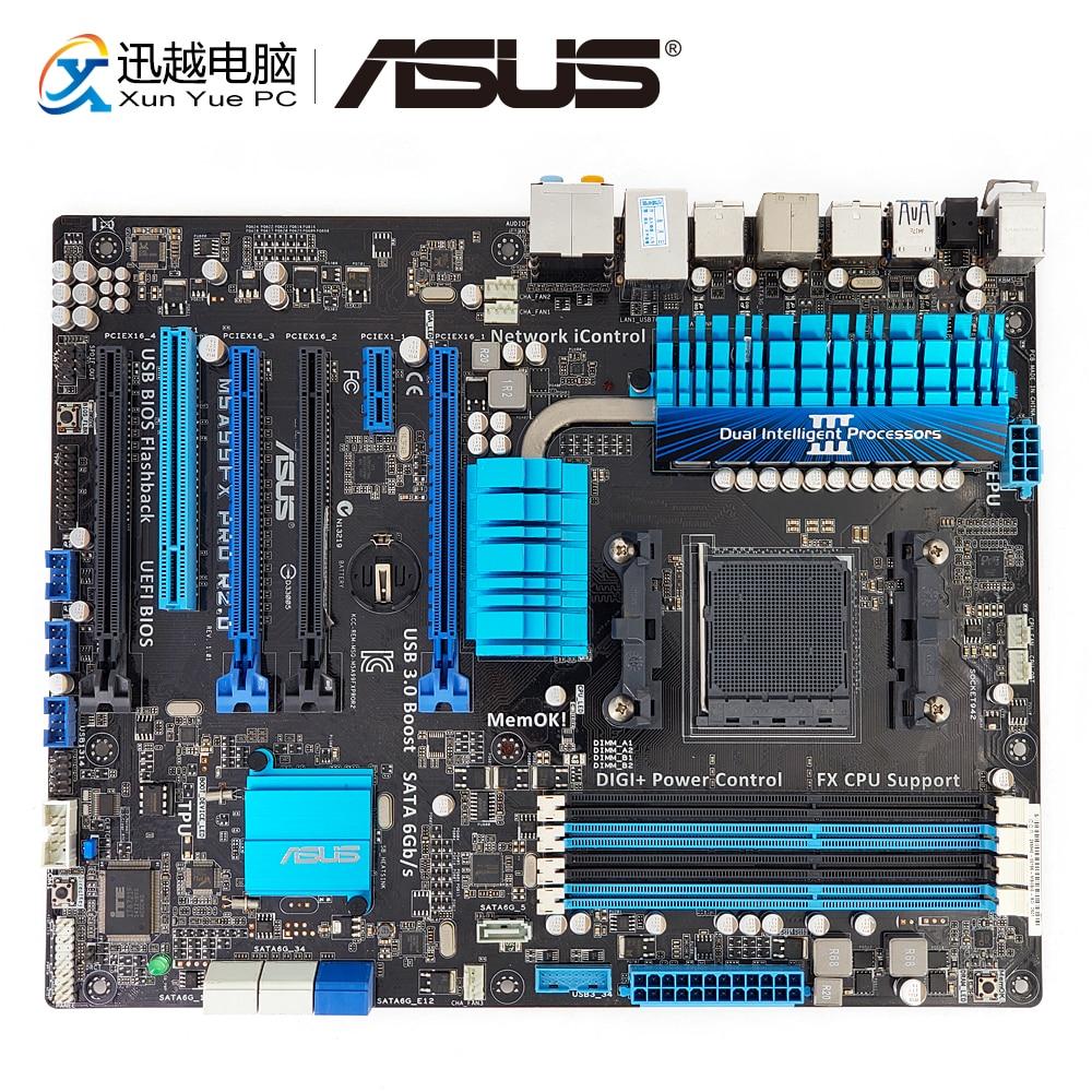 Asus M5A99FX PRO R2.0 Desktop Motherboard 990FX Socket AM3+ DDR3 32G eSATA SATA3 USB3.0 ATX asus crosshair iv extreme desktop motherboard 890fx socket am3 ddr3 sata3 usb3 0 atx