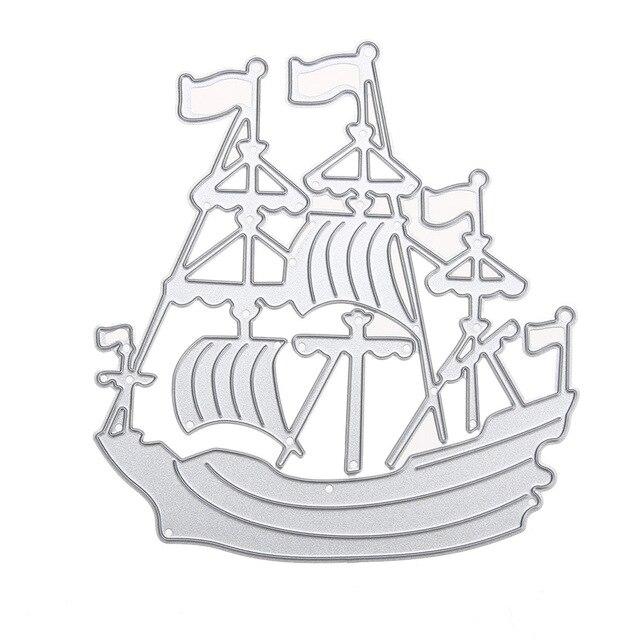 Sea Rover Ship DIY Metal Cutting Dies Sailing Boat For Scrapbook Card Paper Craft Decorative Steel