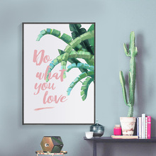 Watercolor Tropical Leaf Canvas Art Print Poster, Pastoral Wall Pictures for Home Decoration FG0112