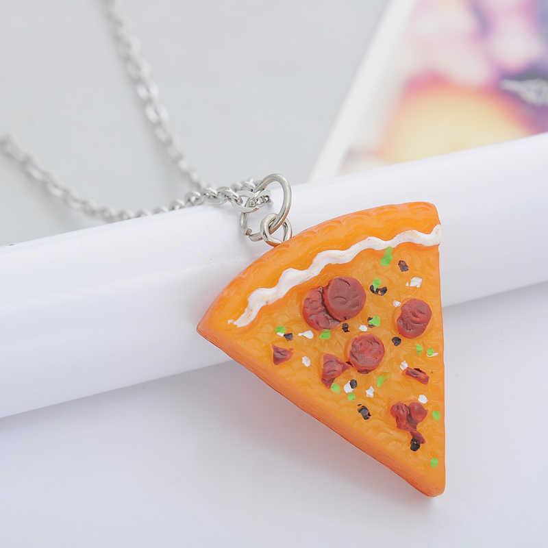 QIHE biżuteria 7 sztuk w 1 zestaw Pizza naszyjnik najlepsi przyjaciele na zawsze naszyjnik dla kobiet mężczyzn dzieci przyjaźń najlepszy prezenty colar