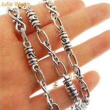 Julie Wang 1 метр 1 много Старинного Серебра стиль тон цинковый сплав Изготовление ювелирных изделий ожерелье цепь 10*5 мм ручной работы ремесла 30132