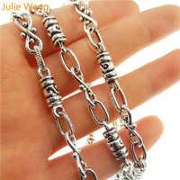 Julie Wang 1 Meter 1Lot Antike Silber Stil Ton Zink-legierung Schmuck Machen Halskette Kette 10*5mm handgemachte Handwerk 30132