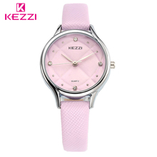 KEZZI Fashion Casual Female Watch Luxury High Quality Leather Ladies Watches Waterproof Quartz WristWatch For Women