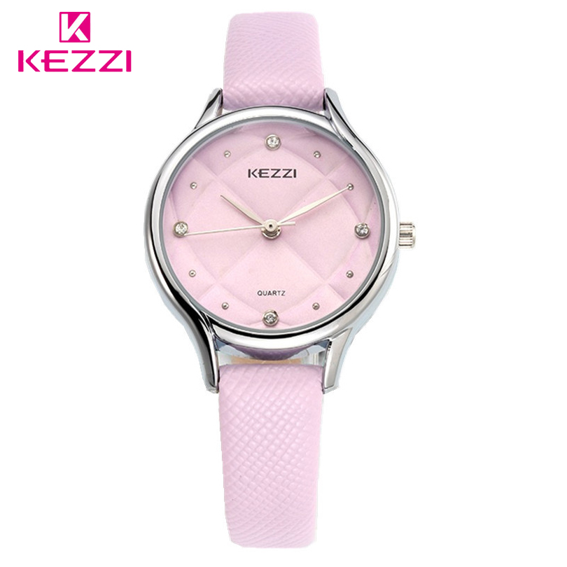 KEZZI Fashion Casual Female Watch Luxury High Quality Leather Ladies Watches Waterproof Quartz WristWatch For Women Montre Femme
