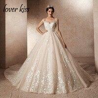 Lover Kiss vestidos novias boda 2019 пикантные Grand свадебное платье длинный шлейф настоящая фотография дизайн невесты платья для женщин robe de mariage