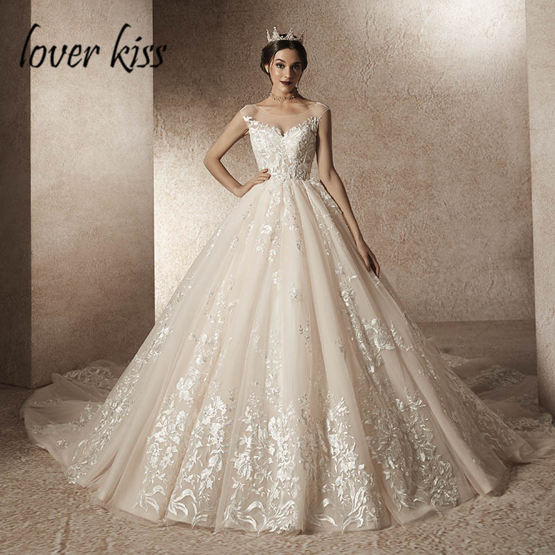 Us 44748 28 Offlover Kiss Vestidos Novias Boda 2019 Sexy Grand Wedding Dress Long Train Real Photo Design Bride Gowns Dresses Robe De Mariage In