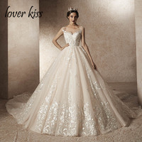 Lover Kiss vestidos novias boda 2019 Sexy Grand Wedding Dress Long Train Real Photo Design Bride Gowns Dresses robe de mariage
