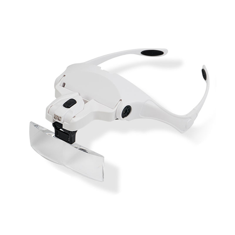 Image 5 - 1X 1.5X 2X 2.5X 3.5X Illuminated Magnifying Glass Magnifier with LED lamp f watch clock repair dental loupes Eyelash Extension-in Magnifiers from Tools on AliExpress