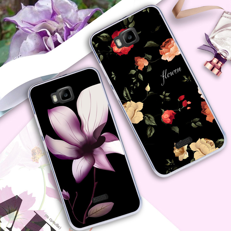 Case For Huawei y541-u02 Flamingo Color Printing Cover For Huawei Honor Bee/ Y5C/Y541 Flower Drawing Shell Vintage Ultra Thin ...