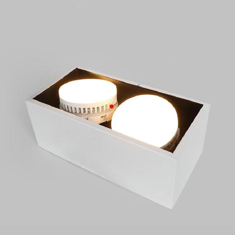 o envio gratuito de alta qualidade quadrado 20 w duplo gx53 branco ou preto led downlights