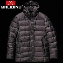 MALIDINU 2018 Men's Down Jackets Winter Jacket Men 70% White Duck Down Thicken Long Down Jacket Winter Down Cost Free Shipping