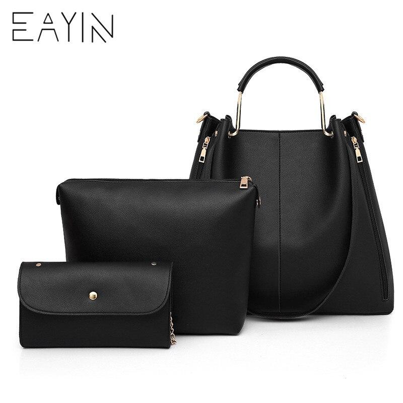 8c563fed3 3 unids/set bolsas de mujer conjunto de bolsos de hombro grandes de mujer  bolso cruzado de ...