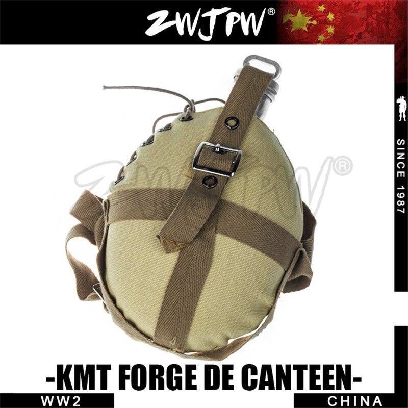 غلاية الجيش الصيني KMT مع غطاء زجاجة - التخييم والتنزه