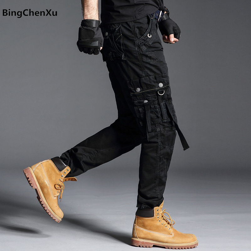 SIMWOOD 2019 summer new Camouflage ankle length pants men side zipper pocket fashion hip hop streetwear