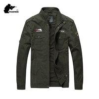 New Military Men's Jakcet Fashion Embroidery Plus Size 100% Cotton Casual Uniform Jacket Coat For Men Outwear M~4XL BF9929