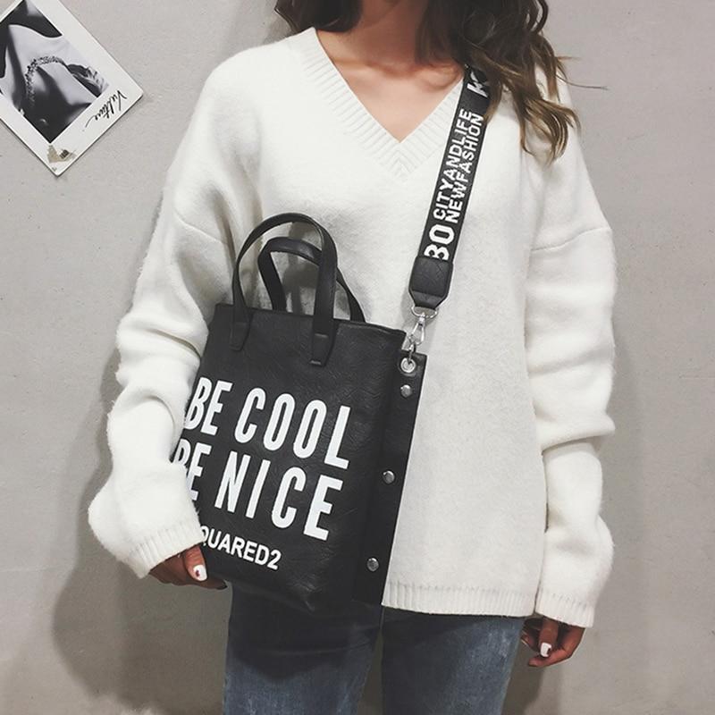 0637dafcbb3 Female Designer Fashion Handbag Women Letter Soft Messenger Shoulder Bags  Large Shopping Tote Ladies Crossbody Bag Purse SS7342
