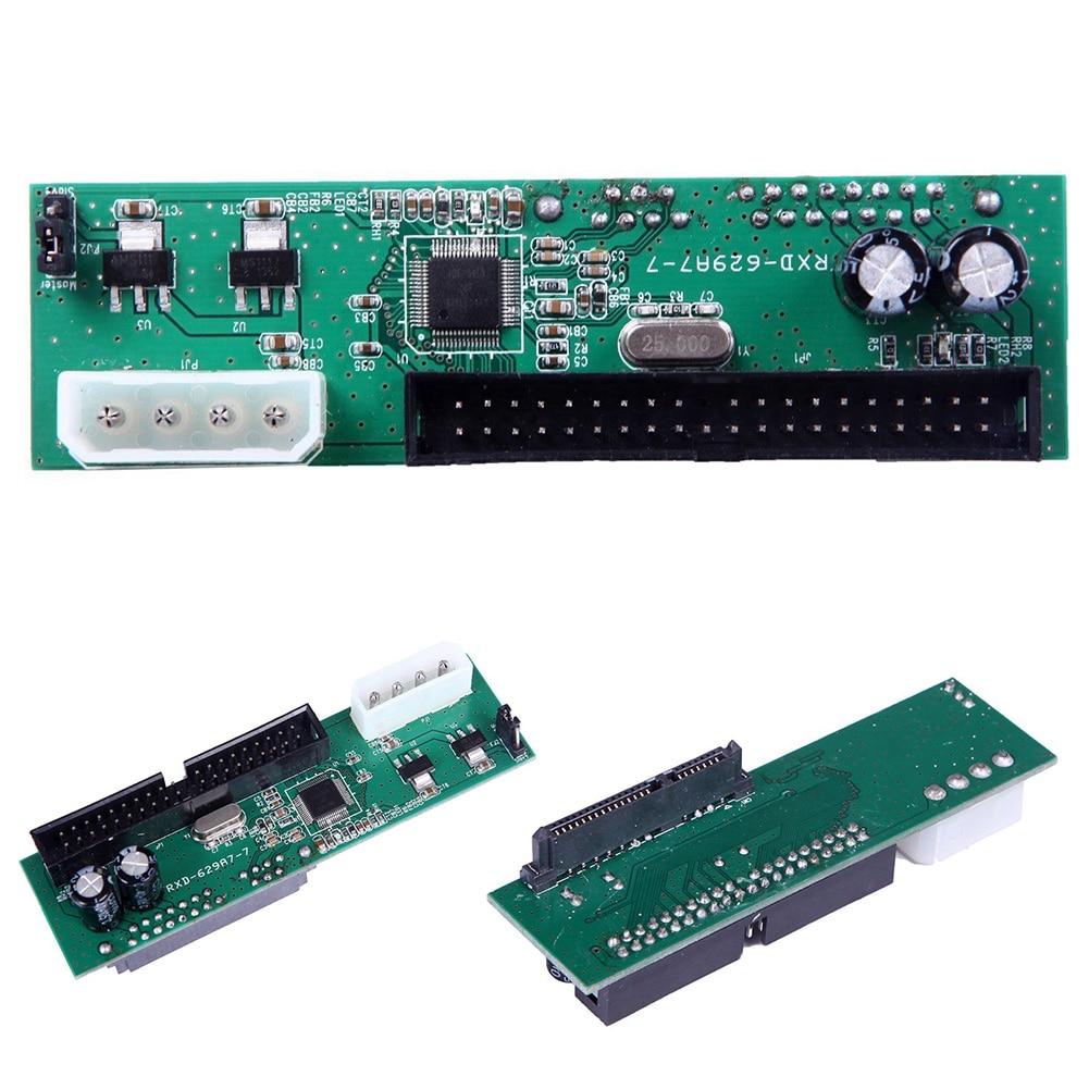 Yity88 Pata IDE To Sata Hard Drive Adapter Converter 3.5 HDD Parallel To Serial ATA(9.6 * 2.6 * 2.4cmGreen)