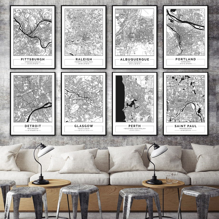 Wall Prints For Living Room Australia Us 3 4 40 Off America Australia England Famous City Map Wall Art Canvas Painting Nordic Posters And Prints Wall Pictures For Living Room Decor In