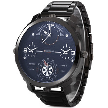 Shiweibao Watches Men Watch Luxury Brand Casual Quartz Wristwatches Full Steel Four Time Zones Military Relogio Masculino Clock