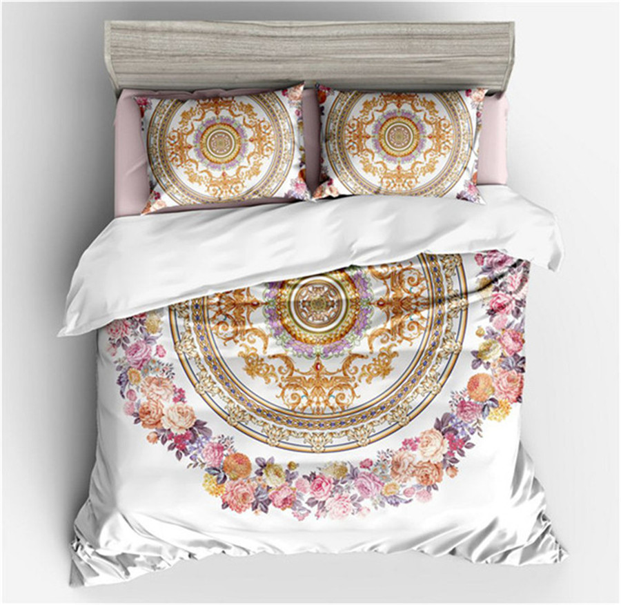 2/3pcs 3D hot sell Bohemia style bedding sets white yellow flower duvet cover pillow case Letter full size home ornament adult2/3pcs 3D hot sell Bohemia style bedding sets white yellow flower duvet cover pillow case Letter full size home ornament adult