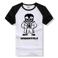Lovely Game Fans Gift T Shirts Gift For Boyfriend Undertale Character Skull Man Sans Printing T