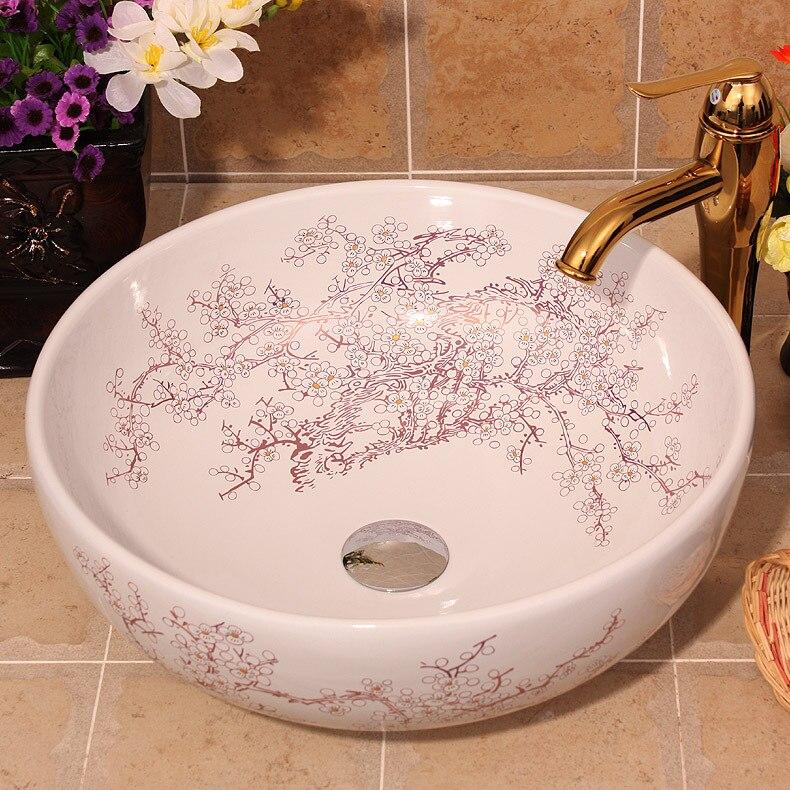 Lavabo Ceramica Per Bagno.Stile Cinese Lavabo Ceramica Fine Lavaggio Bagno Bacino Lavandino