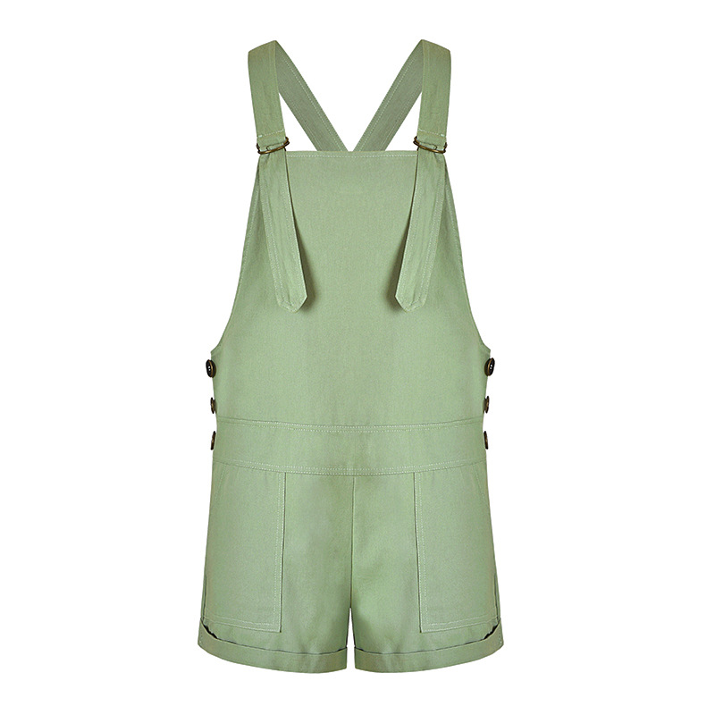 Womens Summer Casual Denim Short Overalls Bib Overall Shorts With Pockets Vintage Solid Color Playsuit Straps And Trousers 2018
