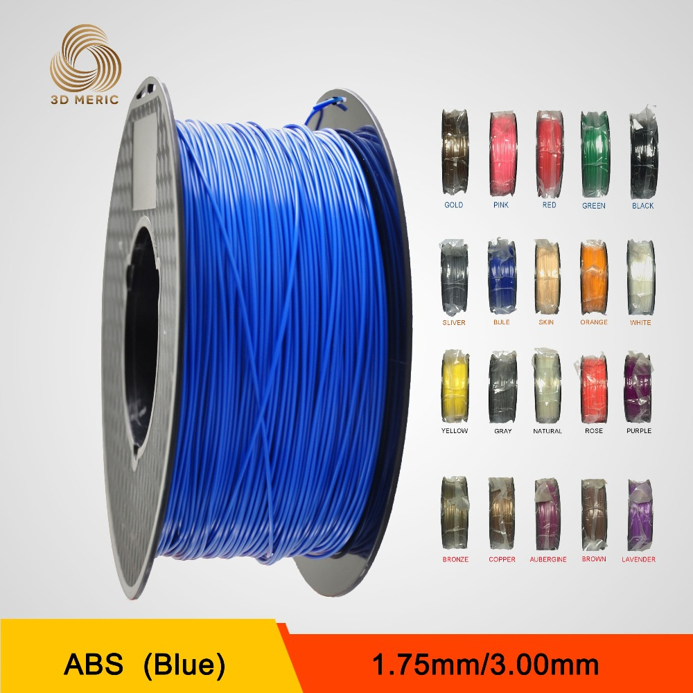 New 2016 blue color for 3d nozzle 1.75mm abs filament printer filament for createbot,makerbot,reprap etc impresora 3d