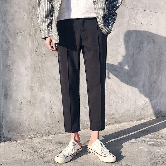 2018 Japanese Men's Cotton Casual Harem Pants Fashion Trend Trousers Hip Hop Style Loose Large Size Black/khaki Pants M-3XL 4
